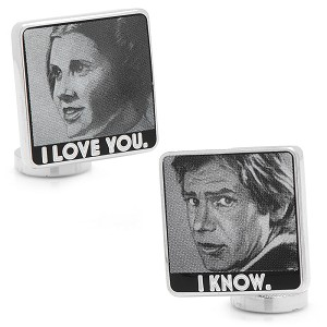 Star Wars Cufflinks - I Love You / I Know