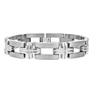 Mens Titanium Cross Linked Bracelet