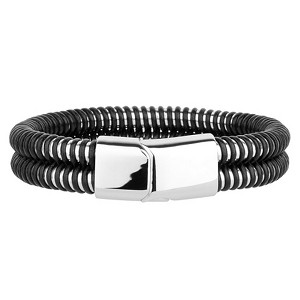 Men's stainless steel bracelets with twisted design | 12mm Wide