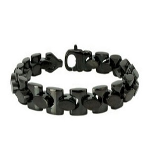 Men's stainless steel bracelet in polish finish | 9.5mm width