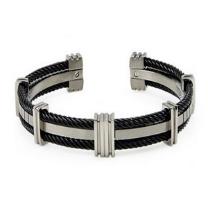 Men's titanium bracelet in satin finish