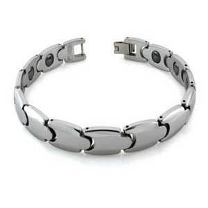 Mens Tungsten Bracelet with Fold Over Clasp