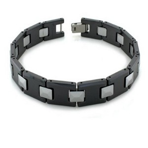 Tungsten Bracelet with Black Polished Finish