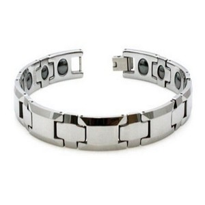 Tungsten Bracelet Polished Finish with Magnets
