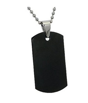 Men's stainless steel pendant in Black IP | 23.5mm width