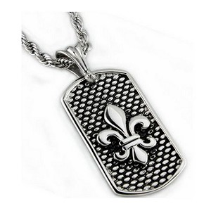 Stainless steel pendant  for men with oxidized look| 24mm width