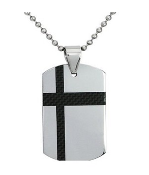 Men's tungsten pendant with Black inlaid| 23.5mm width