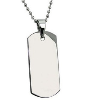 "Mens Stainless Steel Pendants High polish Finish 22"" Bead Chain"