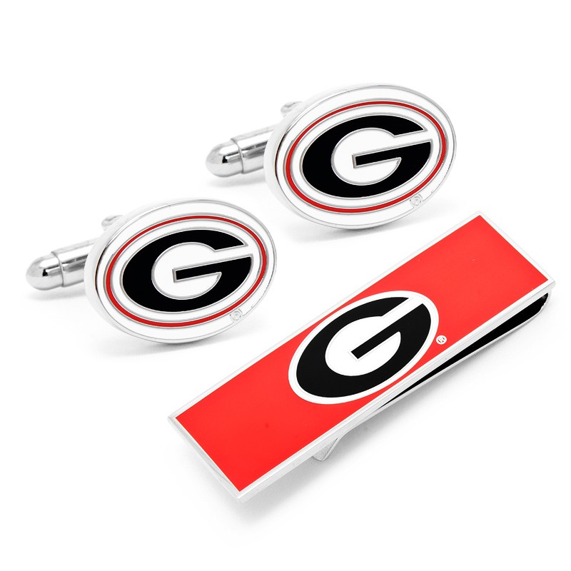 University of Georgia Cufflinks and Money Clip Gift Set