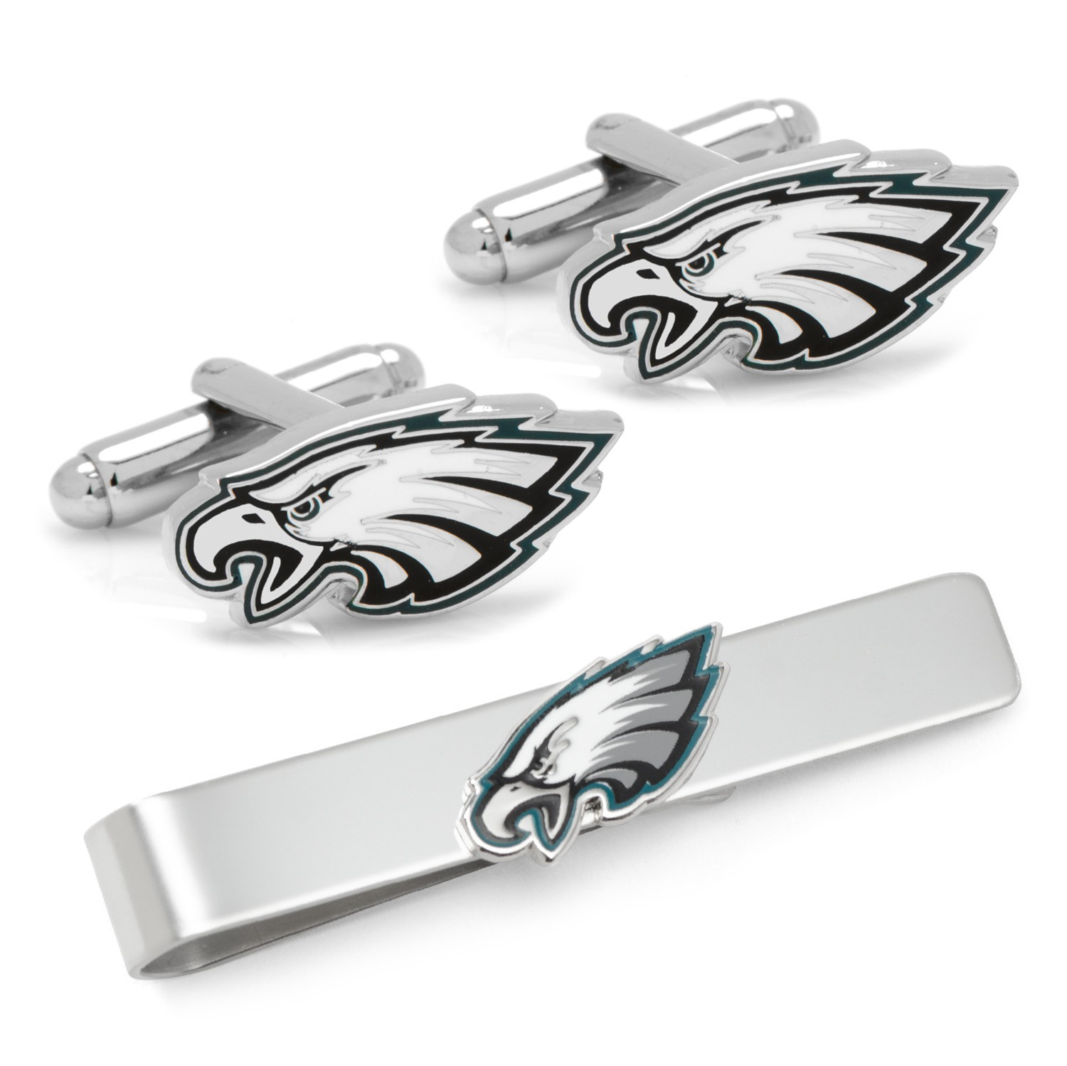 Philadelphia Eagles Cufflinks and Tie Bar Gift Set