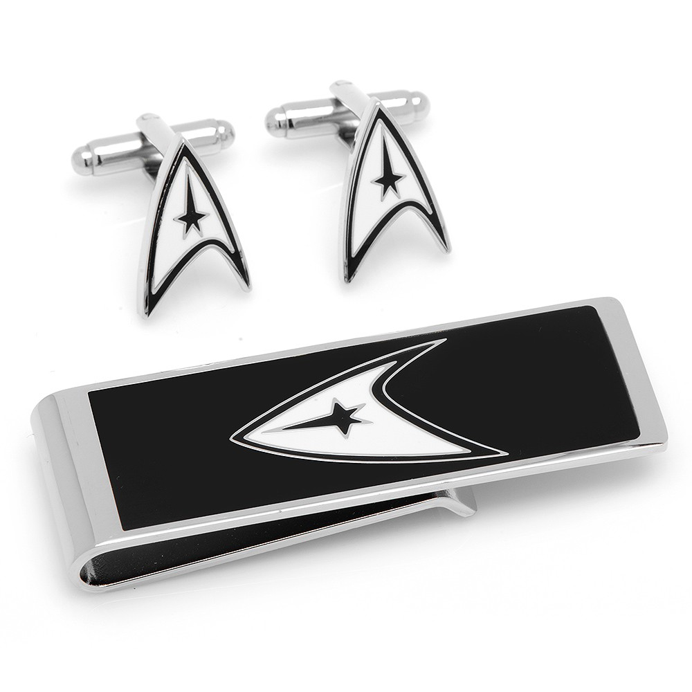 Star Trek Delta Shield Cufflinks and Money Clip Gift Set